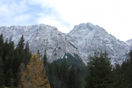 giewont: Symbol of Tatra Mountains - Giewont in autumn, Poland (sleeping knight). View from Strazyska Valley