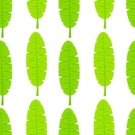 simple life: Banana leaves seamless pattern illustration