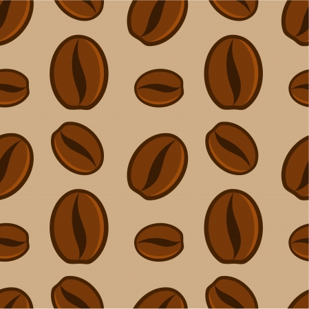 Coffee beans seamless pattern illustration Vector