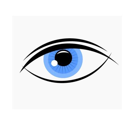 女性の青い目のイラスト