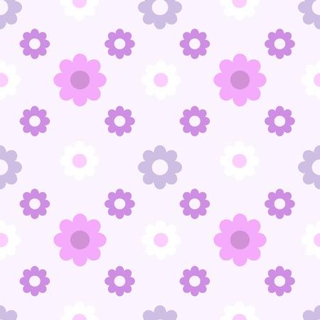 Purple flowers  Seamless pattern Vector