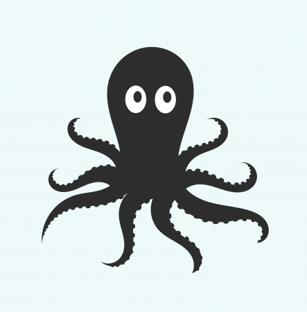 black octopus: Octopus illustration