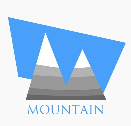 Mountain symbol , logo or icon. Vector illustration Vector