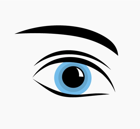Blue eye icon. Vector illustration Vector