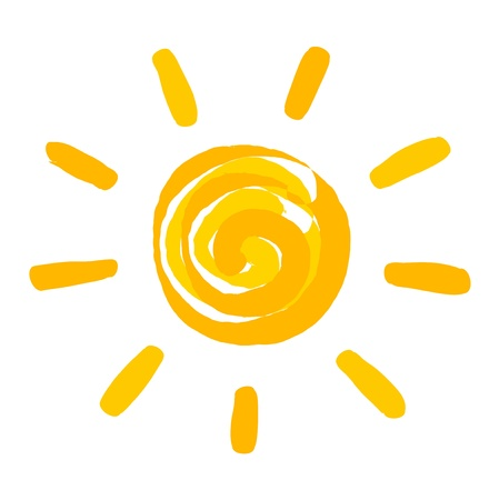 Sun painted. Vector illustration Stock Vector - 21137380