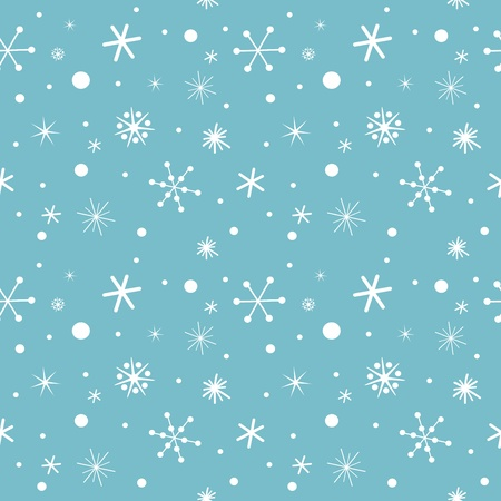 Snowflakes - seamless pattern. Vector illustration Vector