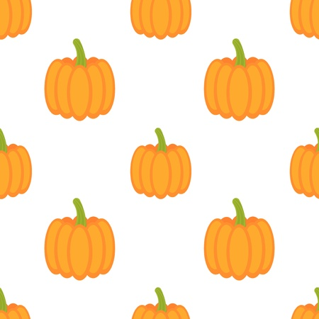 Pumpkins seamless pattern - vector illustration Vector
