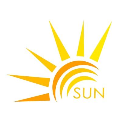 Símbolo del sol Resumen ilustración vectorial
