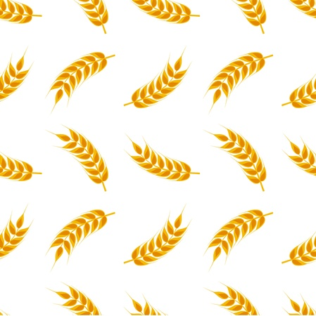 Wheat ears seamless pattern. Vector illustration Vector