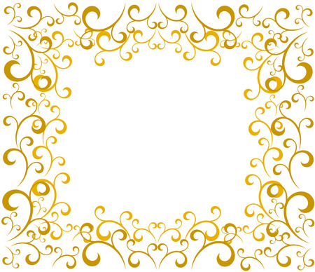 Elegant gold vintage Christmas border. Vector illustration Vector