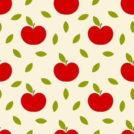 Apples seamless pattern. Vector illustration Stock Vector - 23306840