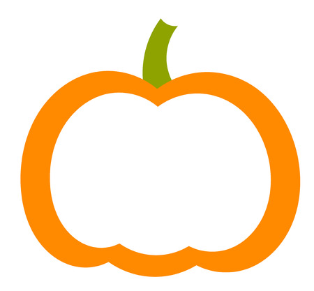 Pumpkin shape label. Vector illustration