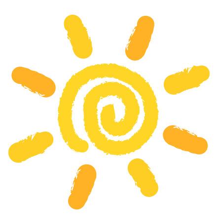 Schilderij van werveling zon symbool. Vector illustratie