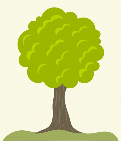 Green tree growing. Vector illustration Vector