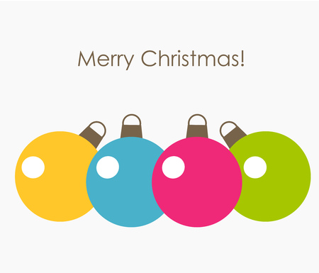 christmas baubles of modern design: Colorful Christmas baubles  Vector illustration