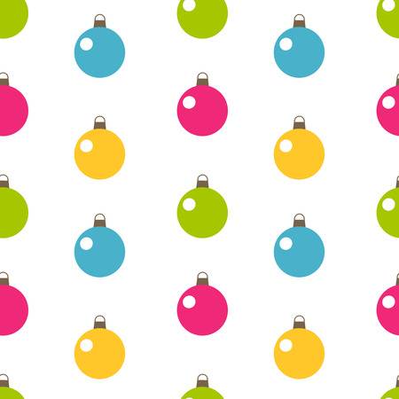 Christmas balls - seamless vector pattern Vector