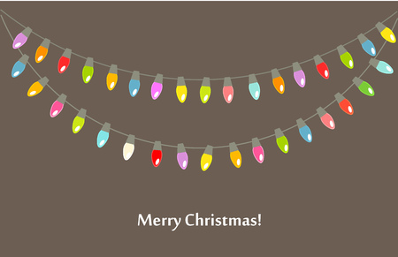 light chains: Christmas lights background  Vector illustration