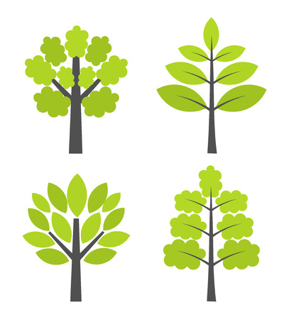 simple life: Simple trees collection  Vector illustration Illustration