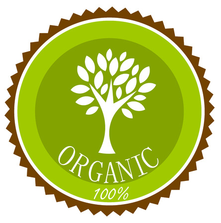 Organic label or emblem. Vector illustration Vector