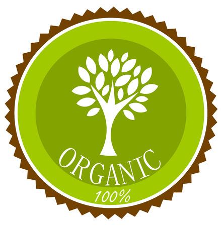 Organic label or emblem. Vector illustration