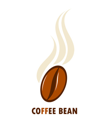 Aromatic coffee bean. Vector illustration Illustration