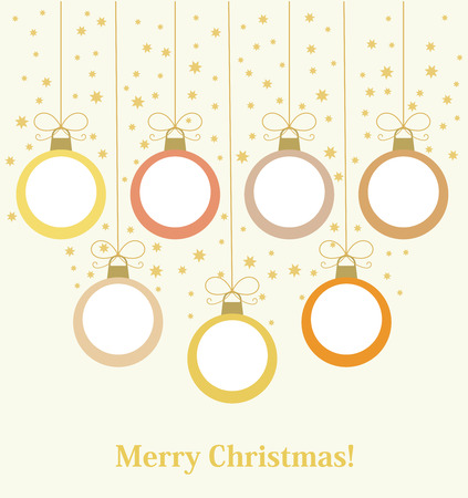 christmas ball: Christmas baubles hanging. Vector illustration background