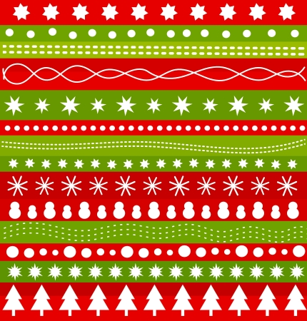 Christmas pattern in scandinavian style. Vector illustration Vector
