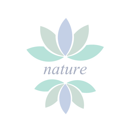 Leaf or flower symbol or icon, Nature concept illustration Vector