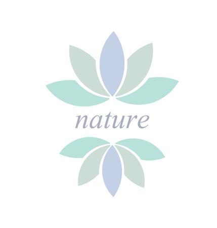 flower concept: Leaf or flower symbol or icon, Nature concept illustration