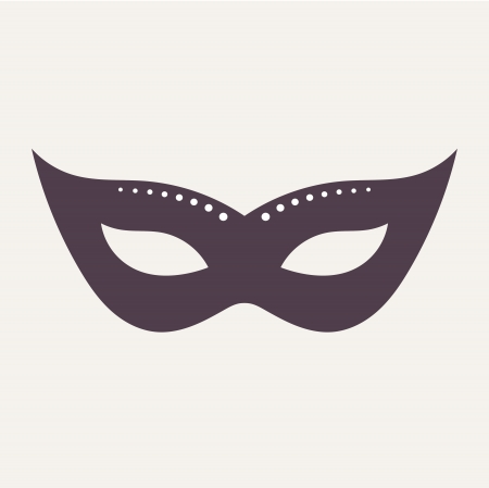 Carnival mask isolated. Vector illustration Vector