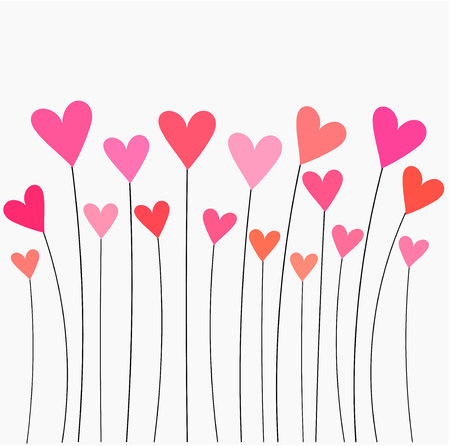 Hartjes roze en rode ballonnen Stock Illustratie