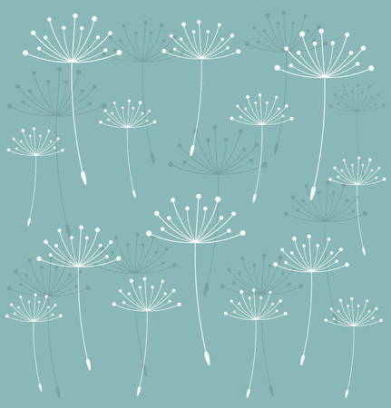 Dandelion seeds blown texture. Vector illustration Vector