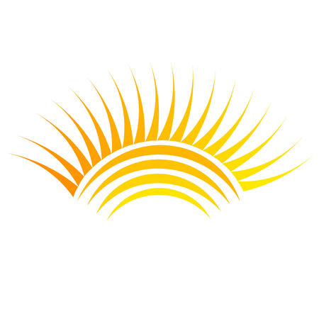 sun burst: Sun symbol illustration