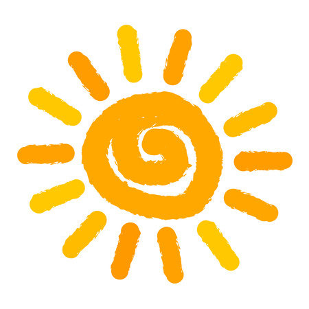 Isolated sun painted. Vector illustration