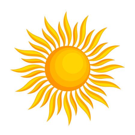 Sun icon. Vector illustration on white background Vector