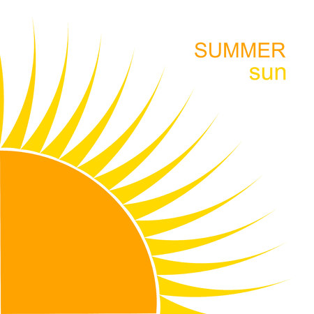 Summer sun background. Vector illustration Vector