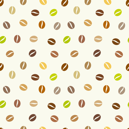 Coffee beans background. Vector seamless pattern Vector