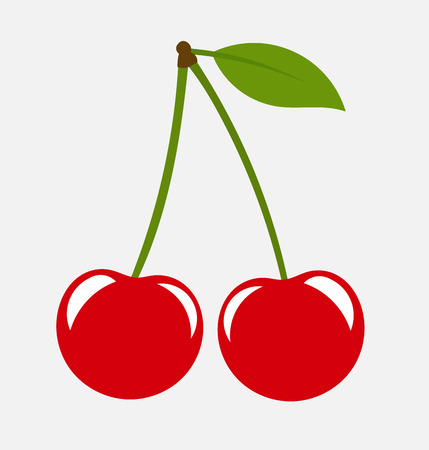 Sweet cherry fruit icon.