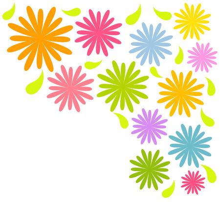 flowers background: Flores coloridas de fondo.