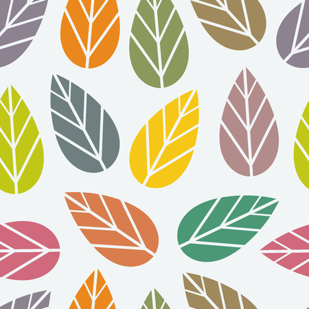 fallen: Colors of leaves. Seamless vector pattern