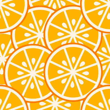 oranges: Orange slices seamless pattern. Vector illustration Illustration