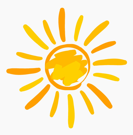 Sun symbol painted. Vector illustration Vector