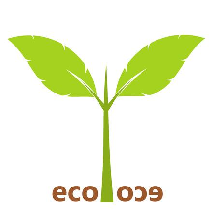 Plant seedling icon. Vector illustration