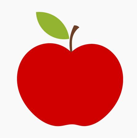 赤いリンゴのアイコンです。  イラスト・ベクター素材