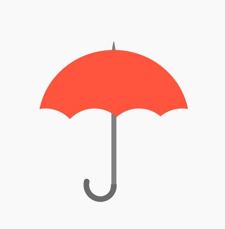 fall protection: Red umbrella icon.  Illustration
