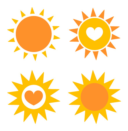 Set of sun icons. Vector