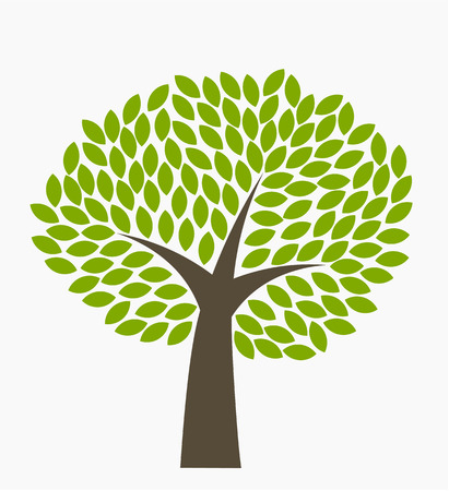 park icon: Tree with many green leaves.  Illustration