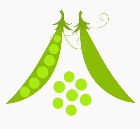 Green pea icon. Vector illustration Vector
