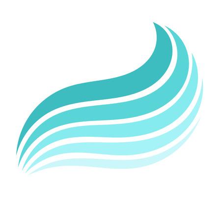 Blue Sea wave. Vector illustration