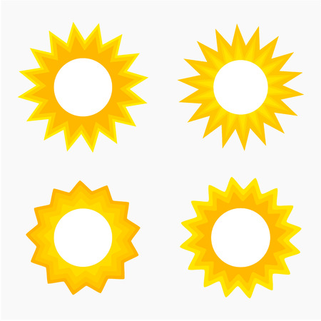Sun labels collection. Vector illustration Vector